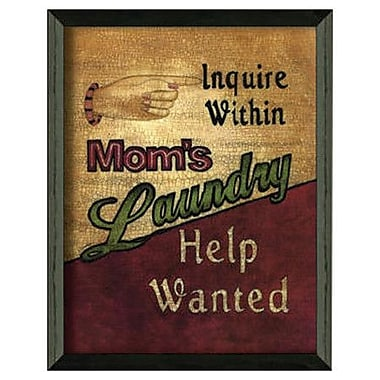 Timeless Frames Laundry Help Wanted by Linda Spivey Framed Graphic Art