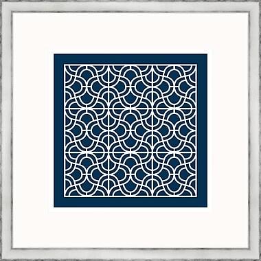 Melissa Van Hise Geometric 2 Framed Graphic Art; Navy