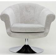 Fox Hill Trading Overman Disc Base Twist Chair; Light Tan