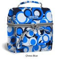 J World Corey Lunch Bag; Chess Blue