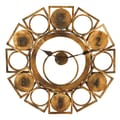 Woodland Imports Oversized 32'' Geometric Circles and Squares Wall Clock