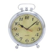 Woodland Imports Solid Classic Metal Clock