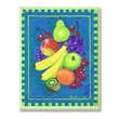 Stupell Industries Assorted Fruit on Blue and Green Kitchen Wall Plaque