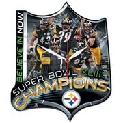 Wincraft NFL High Def Plaque Wall Clock; Super Bowl Champions
