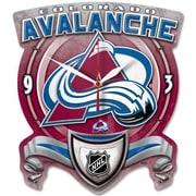 Wincraft NHL High Def Plaque Wall Clock; Colorado Avalanche