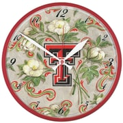 Wincraft NCAA 12.75'' Wall Clock; Texas Tech University