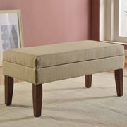 Kinfine Upholstered Storage Bench; Tan