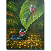 White Walls Jungle Slide Original Painting on Canvas