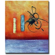 White Walls Writing On The Wall Framed Painting Print on Wrapped Canvas