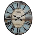 Creative Co-Op Oversized Wall Clock; Turquoise