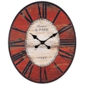 Creative Co-Op Oversized Wall Clock; Red