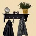 Woodland Home Decor Hook Shelf; Espresso
