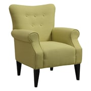 Emerald Home Furnishings Lydia Neon Button Back Arm Chair; Citrine Yellow