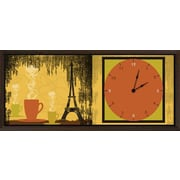 Green Leaf Art Coffee in Paris Art Clock