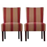 Handy Living Dunley Fabric Slipper Chair (Set of 2)