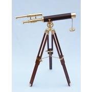 Handcrafted Nautical Decor Floor Standing Griffith Astro Refractor Telescope; Brass