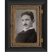 The Artwork Factory Tintype Photographs Nikola Tesla Framed Photographic Print