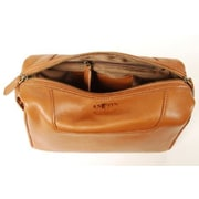 Aston Leather Men's Leather Toiletry Case; Brown