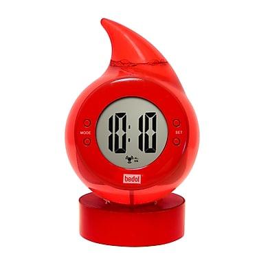 Bedol Water Clock Drop Water Alarm Clock; Red