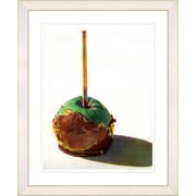 Studio Works Modern ''Candy Apple'' by Zhee Singer Framed Fine Art Giclee Painting Print; White