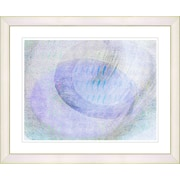 Studio Works Modern ''Wind Play - Blue'' by Zhee Singer Framed Fine Art Giclee Painting Print; White