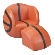 Gift Mark Basketball Kids Upholstered Novelty Chair & Ottoman