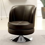Hokku Designs Diesel Swivel Chair; Brown