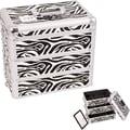 Sunrise Cases Professional Cosmetic Makeup Case; White Zebra