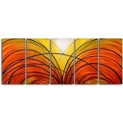 My Art Outlet Twin Cornucopia 5 Piece Original Painting Plaque Set