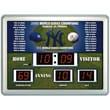 Team Sports America MLB Scoreboard Thermometer Wall Clock; New York Yankees