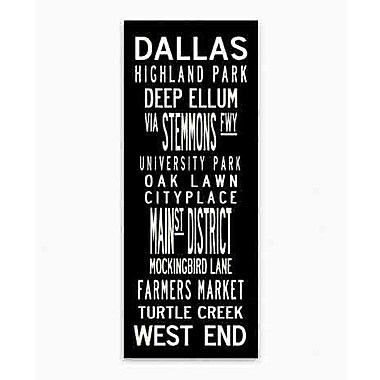 Uptown Artworks Dallas by Uptown Artworks Framed Textual Art on Wrapped Canvas; 24x60