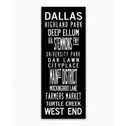 Uptown Artworks Dallas Textual Art Giclee Printed on Canvas; 20x50