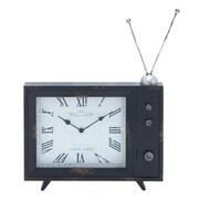 Woodland Imports Rectangular Wood Clock