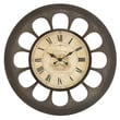 Woodland Imports Unique Oversized 34'' Design Wall Clock