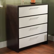 TMS 4 Drawer Chest; White / Espresso