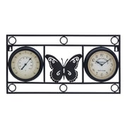 Woodland Imports Butterfly Motif Wall Clock