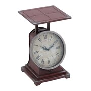 Woodland Imports Metal Scale Decor Clock