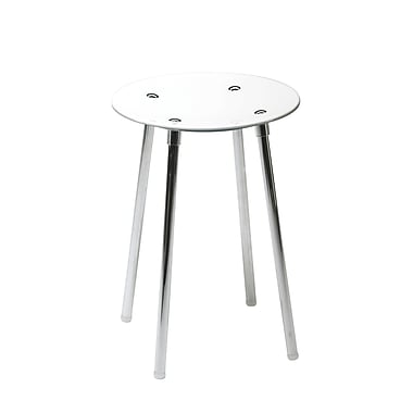 WS Bath Collections Complements Noni Bathroom Stool; White