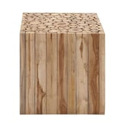 Woodland Imports Square Shaped Wooden Klaten Stool