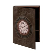 Woodland Imports Elegant Pattern Wall Box Clock