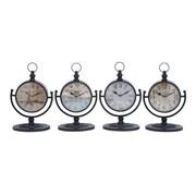 Woodland Imports Metal Desk Clock (Set of 4)