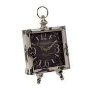 Woodland Imports Intricate Clock w/ Square Shaped Dial