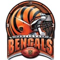 Wincraft NFL High Def Plaque Wall Clock; Cincinnati Bengals