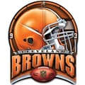 Wincraft NFL High Def Plaque Wall Clock; Cleveland Browns