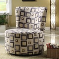 Woodbridge Home Designs Blue Geometric Easton Chair