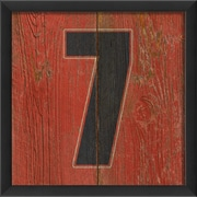 The Artwork Factory Number Seven Framed Textual Art