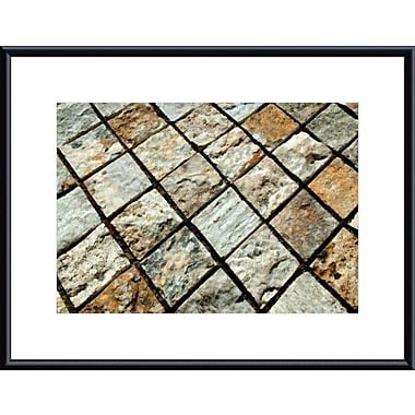 Printfinders Diamond Tiles by John K. Nakata Framed Photographic Print; Black