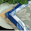 Pacific Table Linens Bouquet Cocktail Napkin (Set of 2); Summer Midnight