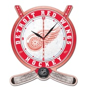 Wincraft NHL Plaque Wall Clock; Detroit Red Wings