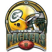 Wincraft NFL High Def Plaque Wall Clock; Green Bay Packers